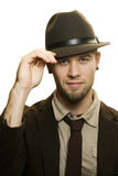 Man dressed in 1930's style clothing. Studio shot of Man dressed in 1930's style clothing Royalty Free Stock Photography