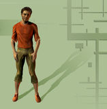 Man dressed 2. Illustration, design, fashion.A casual man's figure Royalty Free Stock Photography