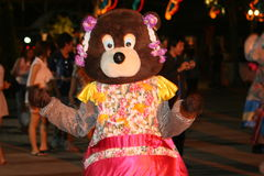 Man dressed as bear, Thailand. Royalty Free Stock Photo