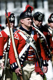 Man Dressed as British Redcoat Royalty Free Stock Photography