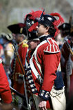 Man Dressed as British Redcoat Royalty Free Stock Photos
