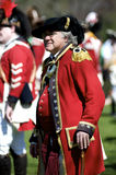 Man Dressed as British Redcoat Stock Photo