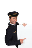 Man dressed as a captain Royalty Free Stock Photos