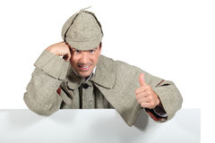 Man dressed as a detective Royalty Free Stock Photos