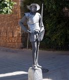 Man dressed as Don Quixote mime Royalty Free Stock Photography