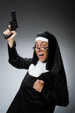 The man dressed as nun Royalty Free Stock Image