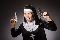The man dressed as nun Stock Image