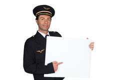 Man dressed as pilot Royalty Free Stock Photography