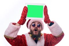 Man dressed as Santa Claus royalty free stock image