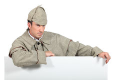 Man dressed as Sherlock Holmes Stock Images