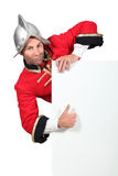 Man dressed as a soldier Royalty Free Stock Image