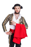 Man dressed as Spanish bull fighter Stock Image