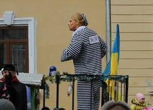 Man dressed as a Timoshenko Stock Image