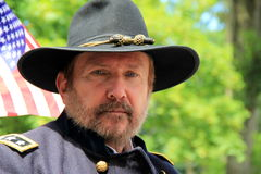 Man dressed as Ulysses S. Grant in July 4th parade,Saratoga Springs,New York,2013 Royalty Free Stock Image