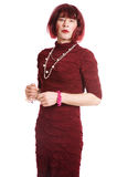 A man dressed as a woman Stock Photography