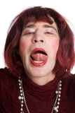 A man dressed as a woman Royalty Free Stock Photography