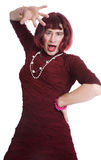 A man dressed as a woman Stock Image