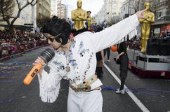 Man dressed Elvis Presley Stock Images