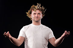 Man dressed in Greek god Royalty Free Stock Photography