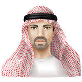 Man dressed in keffiyeh Royalty Free Stock Images