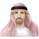 Man dressed in keffiyeh Royalty Free Stock Images
