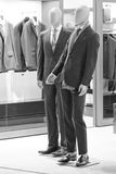 Man dressed mannequin in black and white Royalty Free Stock Photography
