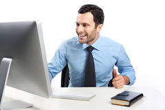A man dressed in shirt Royalty Free Stock Image