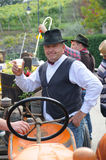 Man dressed up as farmer. Gambellara, northern Italy, Italy - september, 27, 2015 - participant dressed up as farmer at the Gambellara Wine Festival 2015 Stock Images