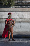 Man dressed up as a Roman legionnaire Stock Photo