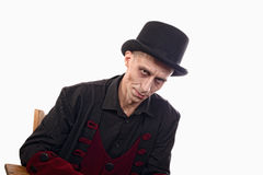 Man dressed up as vampire for the halloween Royalty Free Stock Images