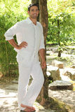 Man dressed in white Royalty Free Stock Photography