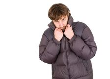 Man dressed for winter Royalty Free Stock Image