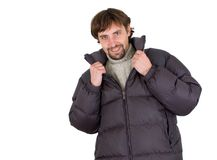 Man dressed for winter Stock Photos