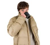 Man dressed for winter Stock Images
