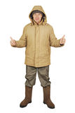 Man dressed in winter clothes Royalty Free Stock Photography