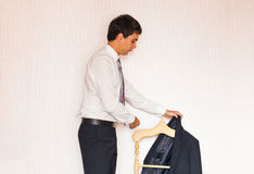 Man dressed for work Stock Photography