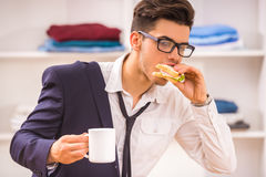 Man in dressing room Royalty Free Stock Images