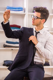 Man in dressing room Royalty Free Stock Image