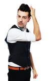 Man dressing up Stock Photos