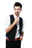 Man dressing up Stock Images