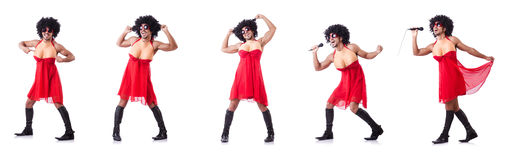 The man dressing in woman dress Royalty Free Stock Photography