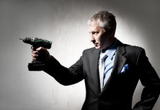 Man with a drill Stock Photos