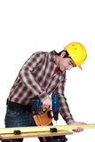 Man drilling Royalty Free Stock Image