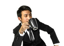 Man drink a coffee Stock Photos