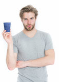Man drink from takeaway coffee or tea cup Stock Photo