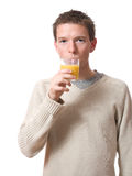 Man drinking Royalty Free Stock Images