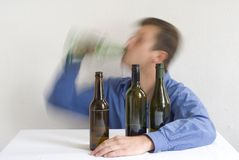 Man drinking Royalty Free Stock Image