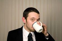 Man drinking stock image