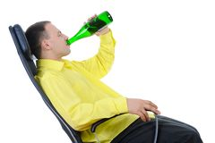 Man drinking alcohol. Stock Photo