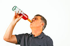 Man drinking alcohol Royalty Free Stock Photos